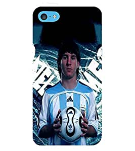 Football, Blue, Player Presenting football, Beautiful Pattern, Printed Designer Back Case Cover for Apple iPhone 5c