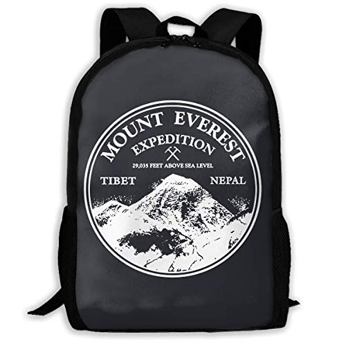 Mount Everest Rock Climbing Mountains Are Calling Printed School Backpack Water Resistant Travel Rucksack Bag Laptop Lightweight Backpack Daypack,17 Inch -
