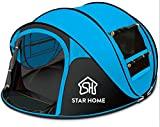 STAR HOME Seconds Pop-up Quick-opening Tents 3-4 Person (Blue)