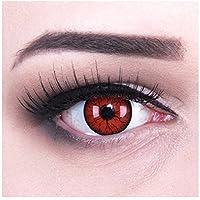 Meralens 1 Paar farbige rote schwarze Crazy Fun Metatron Jahres Kontaktlinsen.Topqualität zu Fasching und Karneval mit gratis Kontaktlinsenbehälter ohne Stärke!