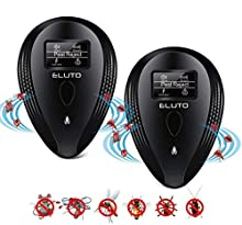 ELUTO Ultrasonic Pest Repeller Plug-in Insects Pest Control Electronic Indoor Mosquito Fly Repellent with LED Display for Insects Mouse Spider Mosquito Ant Rodent Roach