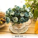 LLPXCC künstliche Blume Wohnzimmer Esstisch Swing Haus und Einrichtung Amerikanische Stroh Topfpflanzen und Wandmontage zum Korb die blaue Blume Basketsthat