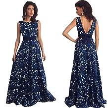 Amazon.it  feiXIANG Vestito da donna Abito a 1a1455a4c05
