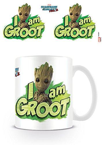 DC Universe Marvel Comics Guardians of The Galaxy Vol. 2 I Am Groot Ceramic Mug Kaffeetassen, Keramik, Mehrfarbig, 7.9 x 11 x 9.3 cm