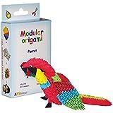 Origami modulaire 417-Pièces - Set papier petit Perroquet, multicolore
