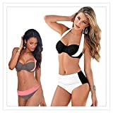 Photo de Tngjijish Sexy s Women Swimsuit High Waisted Bathing Suits Swim Halter Push Up Set Plus Size par Tngjijish