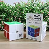 MoYu TangPo 2x2x2 Speed Puzzle Cube Toy Brain Tester White + One MoYu Cube Bag