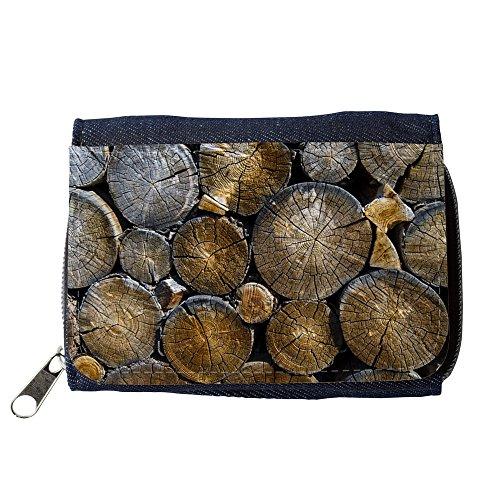 Preisvergleich Produktbild Portemonnaie Geldbörse Brieftasche // M00421557 Rundholz Schnittholz Bauholz Holz // Purse Wallet