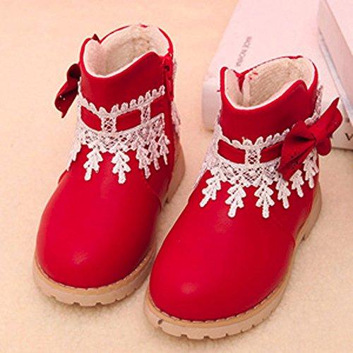 V-SOL Niñas Zapatos de Nieve Calzado Antideslizante Talla 24 Longitud de Pies 15cm Rojo MWlfhk