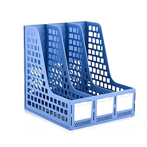 CHAOYANG Neue Art Multifunktions Magazin Halter Datei Rack, Büro Storage Desktop Regal Datei Teiler Kabinett Dokument Tray Organizer Box (Farbe : Blue, Größe : 250*257*275mm)