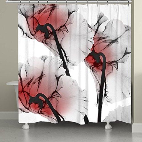 Flamingo Print Dusche Vorhänge Polyester-152,4x 182,9cm-Badezimmer Vorhang Set mit Stufenmatten Teppiche 23,6x (Um Einfach Rund Welt Die Der Kostüme)