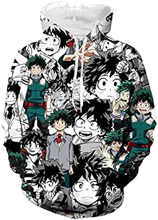 bettydom Boys Novelty T-Shirts My Hero Academia 3D Printed Inspired by Boku No Hero Academia Top Tees