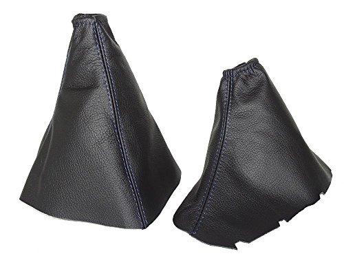 for-kia-sorento-2002-2006-gear-handbrake-gaiter-black-leather-blue-stitching