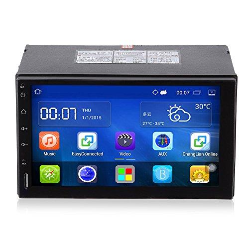 Reproductor de DVD del Coche Android Estéreo de Automóvil, 7 pulgadas 2 din Unidad Principal HD Táctil Pantalla Navegacion GPS, Soporte WiFi FM Radio Bluetooth Control del Volante