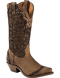Botas de los EE.UU.-Botas, botas de cowboy BO-1655-50-C (pie normal), diseño de mujer, color marrón