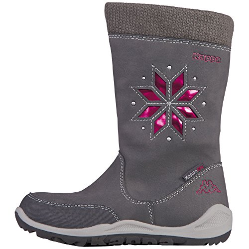 Kappa Lullaby Tex Kids, Bottes courtes avec doublure chaude fille Gris - Grau (1322 anthra/pink)