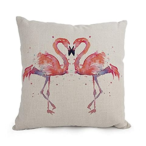 Pillowcover Of Flamingo 18 X 18 Inches / 45 By 45 Cm,best Fit For Bedroom,him,car,christmas,monther,teens Girls Twice