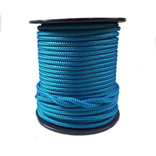 12 mm royal blau Double Braid Polyester Seil, Kupfergeflecht auf Braid X 100 M Spule – 2957 kg Bruchlast