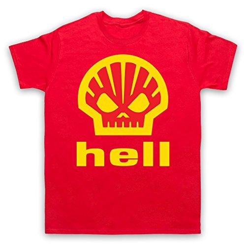 Inspiriert durch Shell Hell As Worn By Heath Ledger Unofficial Herren T-Shirt Rot