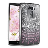 kwmobile LG G Flex 2 Hülle - Handyhülle für LG G Flex 2 - Handy Case in Rosa Weiß Transparent