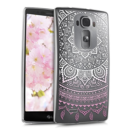 kwmobile LG G Flex 2 Hülle - Handyhülle für LG G Flex 2 - Handy Case in Rosa Weiß Transparent - 2 Flex Cover Lg