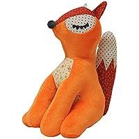"Riva Paoletti Kids Plush Fox Toy - Orange White - 50% Velvet Fleece Polyester, 50% Cotton - 23 x 28cm (9"" x 11"" inches) - Designed in the UK"