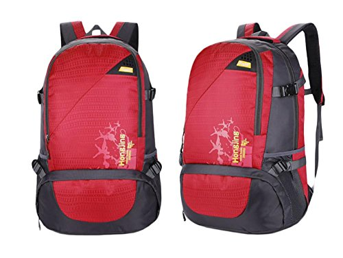 Borsa 45L di corsa della spalla di grande capienza Outdoor Alpinismo pacchetto Movimento Tempo libero , purple Red