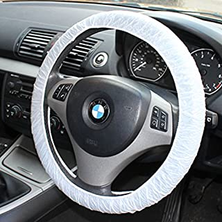 100 x Disposable Car Steering Wheel Covers Elasticated Fit Vehicle Protection by AllTrade Direct