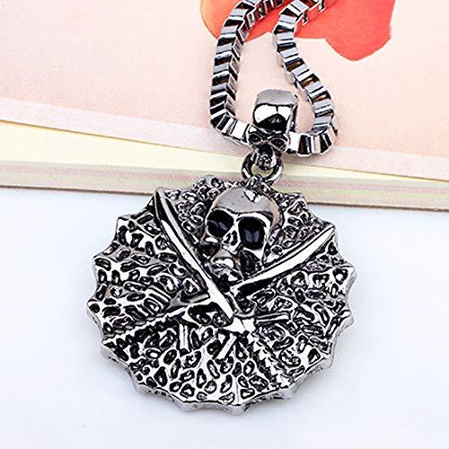 hkgdh Jewellery Halskette mit Anhänger Pirat der Karibik Totenkopf der Tribute von Panem Vogel