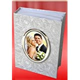 Laps of Luxury Paper Photo Album (21.4 x 16.3 x 5.8 cm, White)