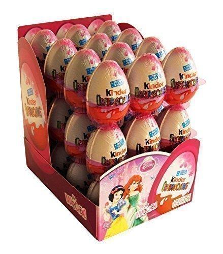 Kinder Sorpresa Disney Princess Cioccolato Uova, con il giocattolo all'interno [Confezione da 24]
