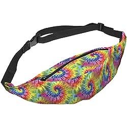 riñonera multicolor espiral tie dye psicodélica