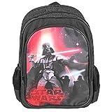 Zaino Bambino Star Wars - Zaino scuola con tasca frontale con stampa di Darth Vader - Cartella scolastica Guerre Stellari - 42x28x12 cm - Nero - Perletti
