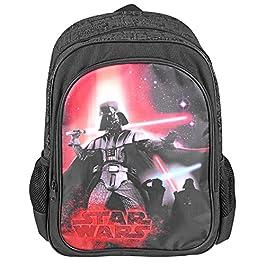 d986eb2bc8 Zaino Bambino Star Wars – Zaino scuola con tasca frontale con stampa di  Darth Vader ...
