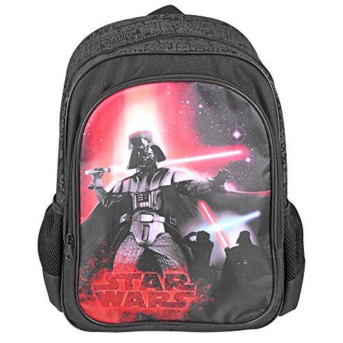 75116e09a6 Zaino Bambino Star Wars - Zaino scuola con tasca frontale con stampa di  Darth Vader -