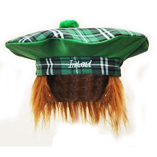 Irland Paddy-Hut im Tartan-Stil mit roten (Dress Kostüme Irland Fancy)