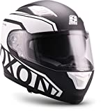 "Soxon  ST-1000 Race ""Black"" (Schwarz)  Integral-Helm  Cruiser Roller Scooter-Helm Motorrad-Helm Sturz-Helm Full-face  ECE zertifiziert  inkl. Sonnenvisier  M (57-58cm)"