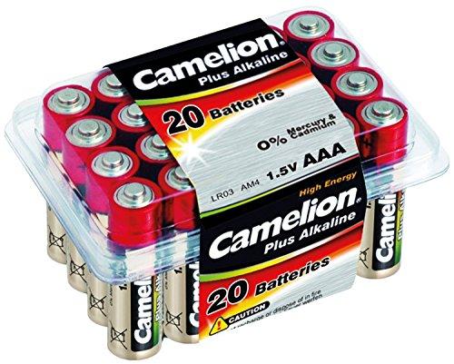 Camelion 11102003 Boîte de 20 piles alcalines AAA