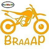 FIOLTY HotMeiNi Dirt Bike Decals Car Car Styling Decoration Sliver 18.5CM*15.6CM : Orange
