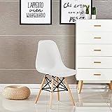 P & N Homewares® Moda Stuhl Kunststoff Retro Esstisch Stühlen Moderne Möbel Retro weiß