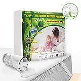 Tvird Tvird Wasserdichter Matratzenschoner 180 x 200cm Atmungsaktive Bambusfaser Matratzenauflage 4 Gummiband | Anti-Allergisch | Anti-Milben Matratzenbezug | Wasserundurchlässiger Matratzen-Schutz