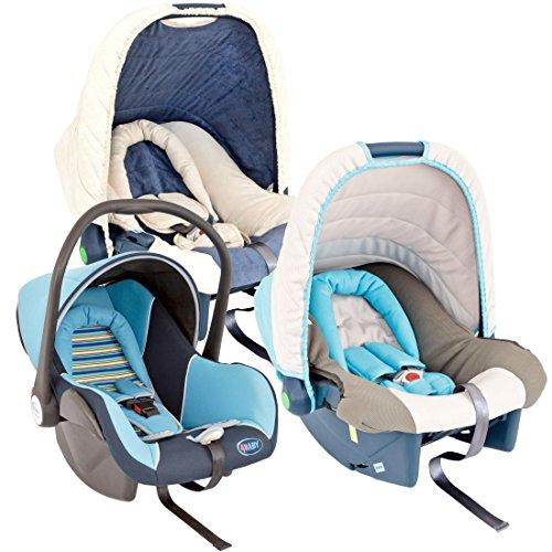 Babyschale Baby Comfort von UNITED-KIDS, verschiedene Designs, Gruppe 0+, 0-13 kg, Farbe:nach Zufall für Jungen