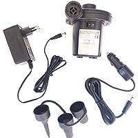 HC enterprise Hinchador Inflador Electrico Bomba Aire,2 EN 1,para Coche y casa