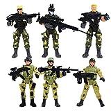 ABBY Modèle de la police militaire, le paragraphe 6 soldats de modèle avec des joints mobiles modernes de soldats avec des armes