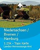 Satmap GPS System Karte 1:25000 & 1:50000 Deutschland: Niedersachsen/Bremen/Hamburg