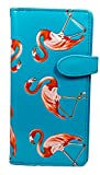 Shagwear Junge-Damen Geldbörse, Large Purse Designs: (Flamingos Himmelblau/Flamingos)