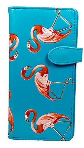 Shagwear Junge-Damen Geldbörse, Large Purse: Verschiedene Farben und Designs: (Flamingos Himmelblau/Flamingos)