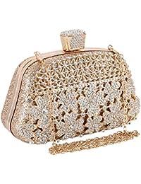 3140f6d52 Bolsas De Embrague para Mujer Novia Vestido Fiesta Baile Fiesta Bolsa  Diamantes pedrería Bandolera Cartera,…