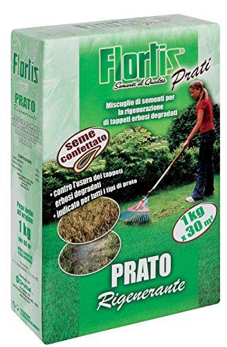 Flortis 4356150 Prato Rigenerante per la Rigenerazione di Tappeti Erbosi Degradati, 1000 g, 7.6x19x30.3 cm