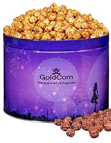 Gourmet Popcorn Butter Meersalz Karamell/ Butter SeaSalt Caramel 100 gramm Beutel Feinkost Snack   GoldCorn